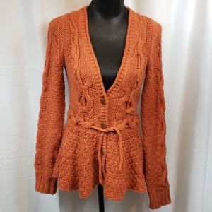 Anthropologie Sparrow button cardigan with belt S